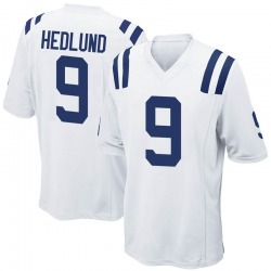 Game Cole Hedlund Men's Indianapolis Colts White Jersey - Nike