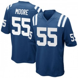 Game Skai Moore Men's Indianapolis Colts Royal Blue Team Color Jersey - Nike