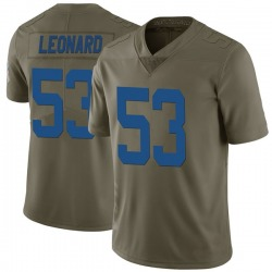 Limited Darius Leonard Men's Indianapolis Colts Green 2017 Salute to Service Jersey - Nike