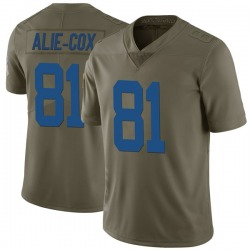 Limited Mo Alie-Cox Youth Indianapolis Colts Green 2017 Salute to Service Jersey - Nike
