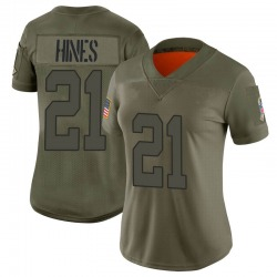 Limited Nyheim Hines Women's Indianapolis Colts Camo 2019 Salute to Service Jersey - Nike
