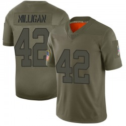 Limited Rolan Milligan Men's Indianapolis Colts Camo 2019 Salute to Service Jersey - Nike